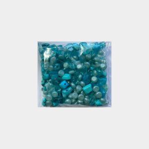 mix plastiche azzurre